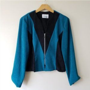 Vintage 80s DJ Summers | Faux Suede Cropped Jacket